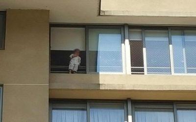 Safety Home Mallas de Seguridad | Mallas de Protección – Impacto causa en vecinos de Concepción niño suspendido en malla de seguridad de piso 11